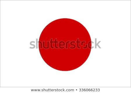 Japán · zászló · fényes · zászlók - stock fotó © idesign