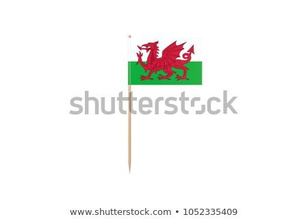 Miniatura bandera gales aislado negocios Foto stock © bosphorus