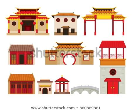 Chinois maison traditionnel ciel bleu ville maison Photo stock © papa1266
