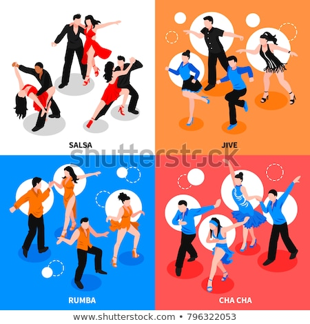 Couple salsa danse Homme danseur permanent Photo stock © feedough