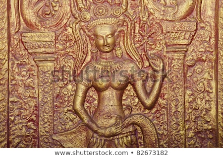 Bouddhique Cambodge temple architecture asian statue Photo stock © travelphotography