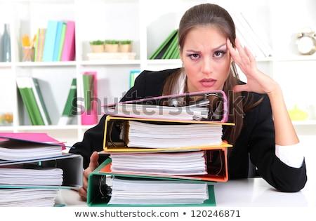 Titkárnő főnök nő boldog technológia üzletember Stock fotó © photography33