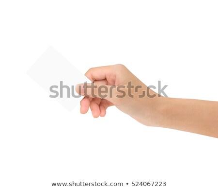 vrouw · hand · creditcards · geïsoleerd · witte - stockfoto © inxti