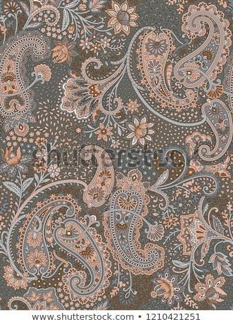 Mão desenhos flores abstrato arte Foto stock © jeremywhat