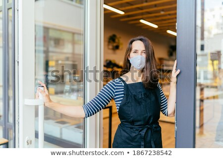 worker installing french doors stock photo © photography33