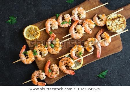 креветок · овощей · морепродуктов · блюдо · брокколи · спаржа - Сток-фото © tannjuska