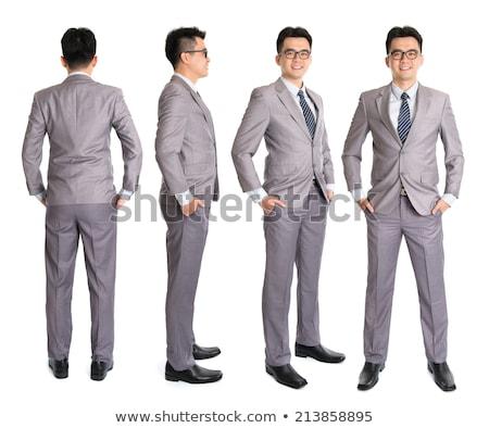 Rear View Full Body Asian Businessman Foto d'archivio © szefei