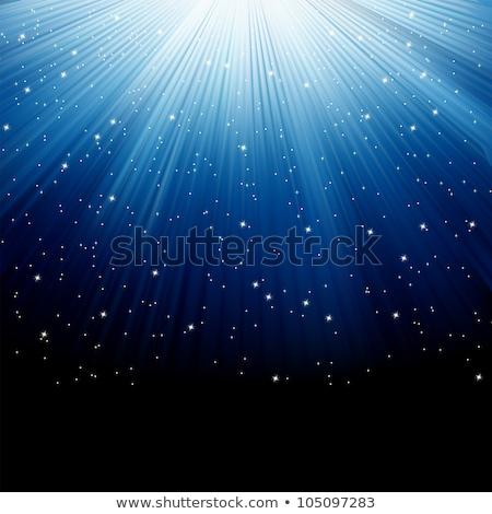 Foto d'archivio: Neve · stelle · cadere · eps · blu · raggi