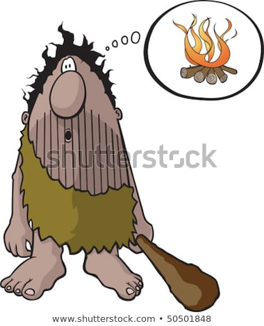 Cartoon caveman or troglodyte Stock photo © antonbrand