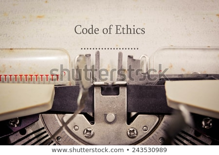 Code of Ethics Typewriter Stock photo © ivelin