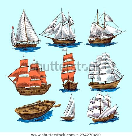 Magas hajó pergamen öreg elnyűtt hajók Stock fotó © AlienCat