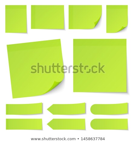 blank green memo note Stock photo © olivier_le_moal