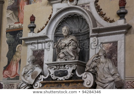 Galileo Galilei Tomb Basilica Santa Croce Florence Italy Stock photo © billperry