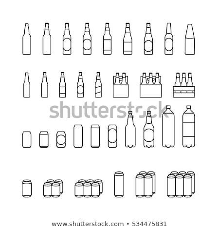 ベクトル · アイコン · することができます · ボトル - ストックフォト © zzve