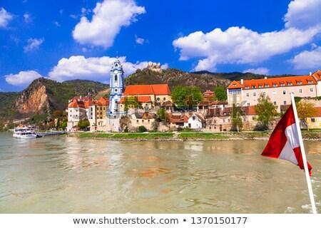 donau · rivier · verlagen · Oostenrijk · berg · kerk - stockfoto © bertl123