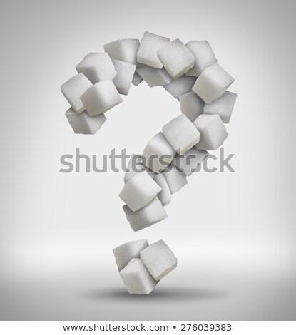 Kockacukor forma kérdőjel fehér kocka Stock fotó © wavebreak_media