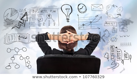 adult business woman thinking of her plans stock photo © hasloo