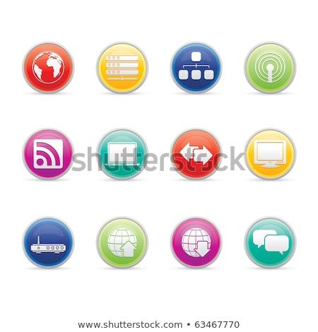 iconos · de · la · web · rojo · popular · papel · mundo - foto stock © radoma