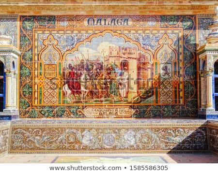 малага керамической скамейке Испания исторический архитектура Сток-фото © Hofmeester