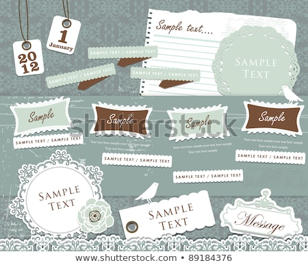 Cute scrapbook design elements Stock photo © obradart