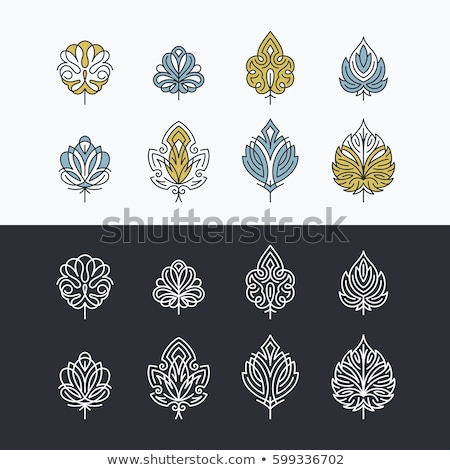 abstract colorful logo of lacy petals Stock photo © butenkow