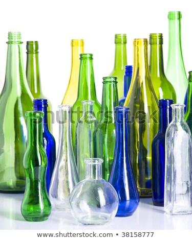 Verde vidrio escultura diseno grupo botella Foto stock © dinozzaver