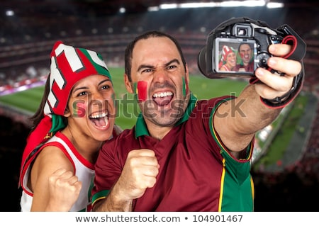 Woman supporting the Portuguese football team Stock photo © photography33