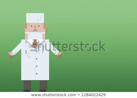 Orvos véres köntös kéz egészség férfiak Stock fotó © Andersonrise