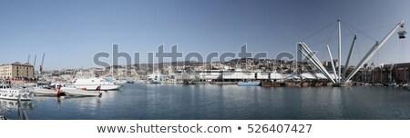 Embankment and Cityscape of Genoa in Italy Stock photo © anshar