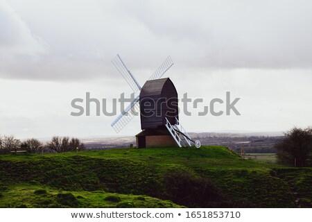 Molino de viento edad edificio verano Foto stock © borysshevchuk