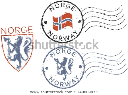 Stock photo: Norwegian post stamp