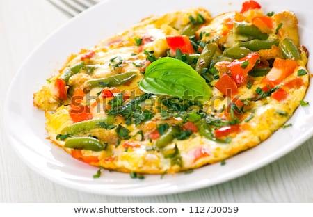 sebze · yumurta · peynir · öğle · yemeği · sarı - stok fotoğraf © saddako2