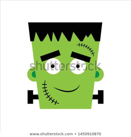 Cartoon green Frankenstein Stock photo © antonbrand