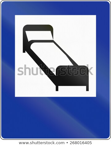 Traffic sign bed and overnight stay Stock photo © Ustofre9