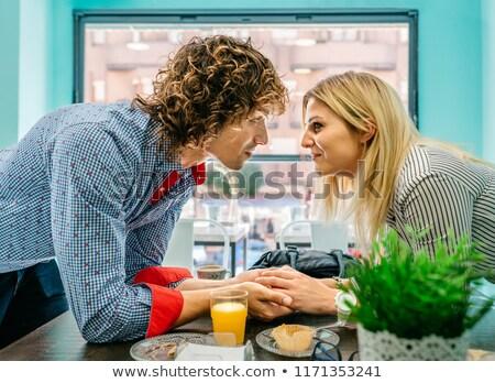 fashion couple holding eachother Stock photo © feedough