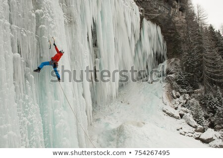 Waterfall in Julian Alps in Slovenia Stock photo © Hochwander