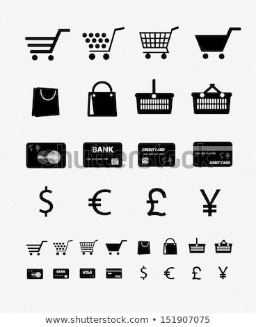 koszyk · pełny · ceny · błyszczący · metal · sto - zdjęcia stock © mariephoto