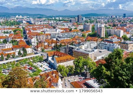 top view of ljubljana castle ljubljanski grad stock photo © joyr