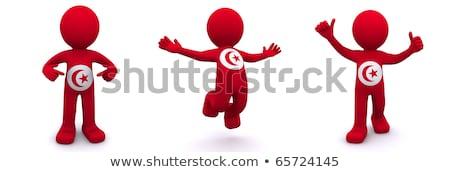 3D bandeira Tunis isolado Foto stock © Kirill_M