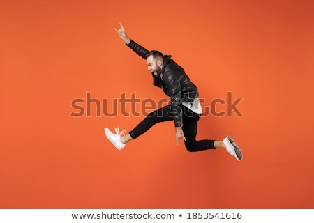 man · springen · handen · lucht · mode - stockfoto © feedough