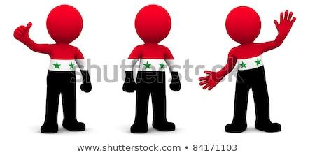 3D karakter vlag Syrië geïsoleerd Stockfoto © Kirill_M