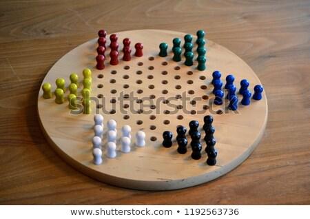 chinese checkers wooden board set Stock photo © pxhidalgo