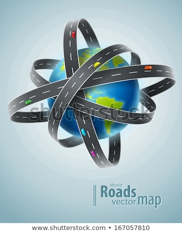 World planet circled by net of roads Stock photo © LoopAll