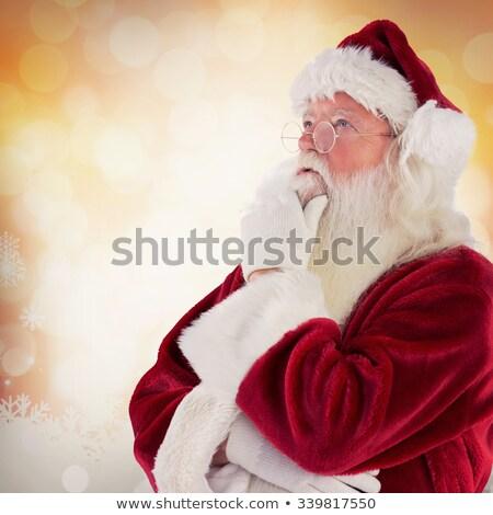 Noel baba düşünme beyaz yüz adam mutlu Stok fotoğraf © fotoatelie