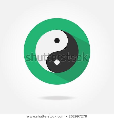 Yin yang minimalista illusztráció szimbólum absztrakt felirat Stock fotó © unkreatives