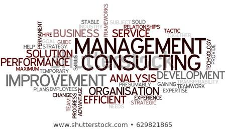 Consultor nuvem da palavra vetor negócio escritório reunião Foto stock © burakowski