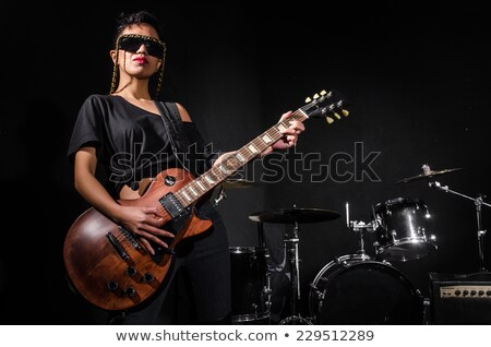 Women playing rock music on stage Stock photo © sumners
