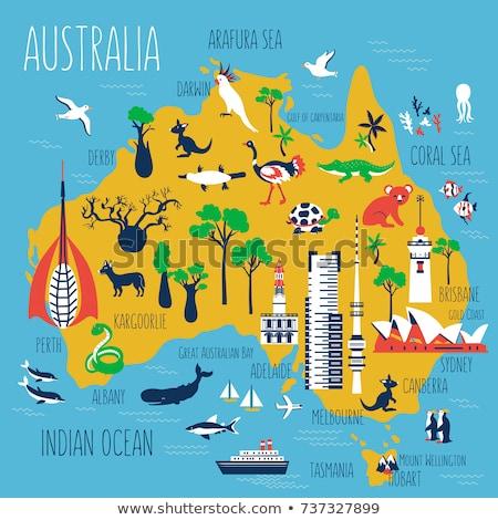 Cartoon adelaide horizonte silueta ciudad Australia Foto stock © blamb