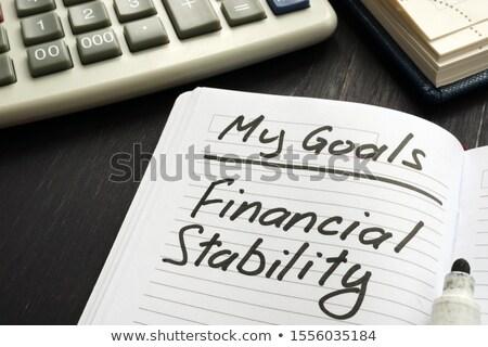 Finanziaria stabilità forte crescita economia metafora Foto d'archivio © Lightsource