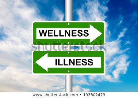 wellness road sign Stock photo © burakowski